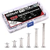 Hilitchi 60-Set M5 x 5/10 / 15/25 / 35/45 Phillips Chicago Screw Binding Screws Posts Assortment Kit for Scrapbook Photo Albums Binding and Leather Saddles Purses Belt Repair