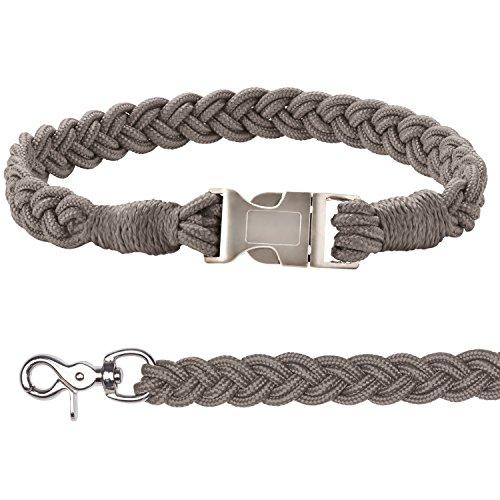 ESKADRON Hundehalsband und Leine (CS ltd.SS17), chocochip, XL