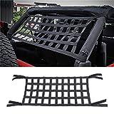 Hammocks Bed Cargo Net, Roof Nylon Net Car Hammocks Bed for Jeep JK 07-18, Heavy Duty Roof Storage Roll Cage Bar Restraint Cargo Roof Top Soft Cover