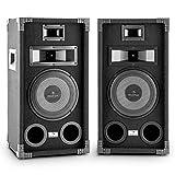 auna PA-800 Coppia di altoparlanti 2 casse audio passive (400W, woofer 20 cm, 3 vie, diffusori full-range, Bass Reflex)