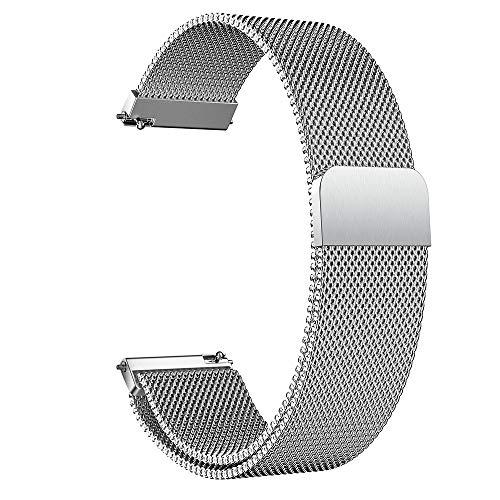 DHDHWL Correa de reloj de 14 mm, 16 mm, 18 mm, 20 mm, 22 mm, 24 mm, acero inoxidable, correa de reloj de malla con pasadores de liberación rápida S61