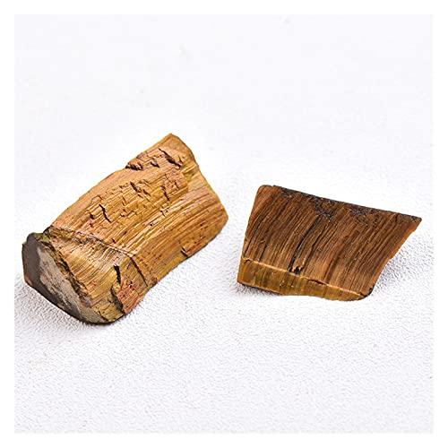 YSJJJBR Piedra Natural 1 unid Tigres Naturales Ojo piedra10-30mm Cristal kies Muestra reparación Roca Mineral curación Piedra Regalo Acuario Accesorios decoración del hogar