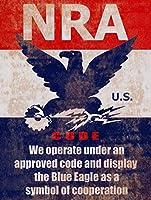 2個 Anbiz NRA、全米ライフル協会、協力コード、銃の看板は複製金属錫看板8X12インチに見えます