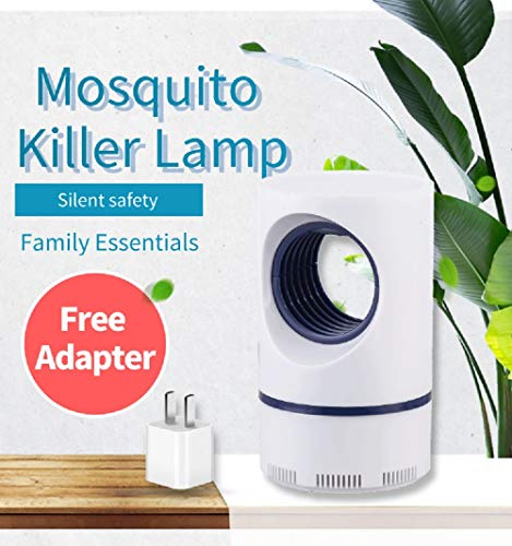 Indoor Insect Trap Bug Fruit Fly Gnat Mosquito Killer - Automated Sensor Switch, UV Light, Fan, Trap Even The Tiniest Flying Bugs - No Zapper - Child Safe, Non-Toxic