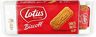 Lotus Biscoff Biscuits Snack 186G 12x Biscuits Inside, Cookies Sweets