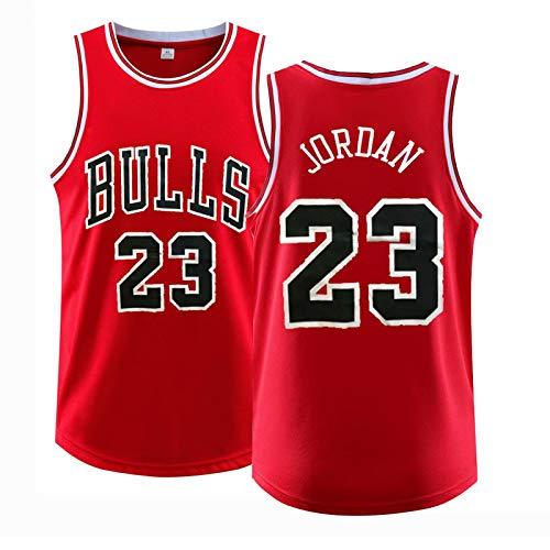 Jőrdan-bullś 23# Camiseta de baloncesto, camiseta de baloncesto para hombre, traje de entrenamiento de equipo de baloncesto, camisa de chaleco, ropa deportiva de malla 2xl rojo-XXXXXL