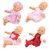 Miunana 4 Sets Kleidung Kleid Outfis Puppenkleidung für 36-46 cm Baby Puppe