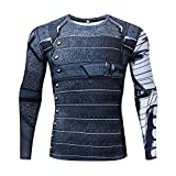 RONGANDHE Men's Super-Hero Compression Sports Fitness T-Shirt Quick-Drying Cool...