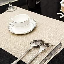 Gu3Je Inicio Lavable Individuales Conjunto de 6 (Multicolor) Sala de Estar/Cocina (Color : Off-White)