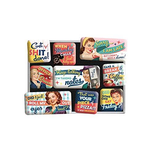 Nostalgic-Art 83116 Retro Kühlschrank-Magnete Office Fun – Geschenk-Idee für Kollegen & Nostalgie-Fans, Magnetset für Magnettafel, Vintage Design