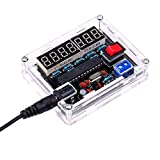 Fréquencemètre, KKmoon 10MHz Fréquencemètre Kit de Bricolage Compteur de Fréquence AVR Fréquence avec Compteur de Coquille Cymomètre Mesure de Fréquence 0,000 001Hz Résolution, Fréquence Metre