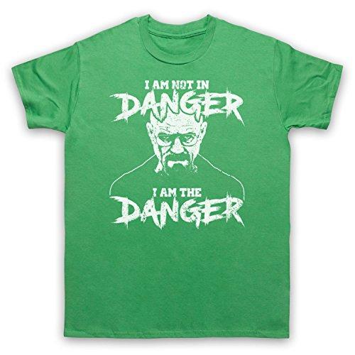 The Guns Of Brixton Breaking Bad I Am Not In Danger I Am The Danger Herren T-Shirt, Grün, Medium