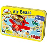 HABA Air Bears - A Compact Magnetic Travel Game for 2-4 Players - Who Will Get Their Vacation Bears to Their Destination Island First?