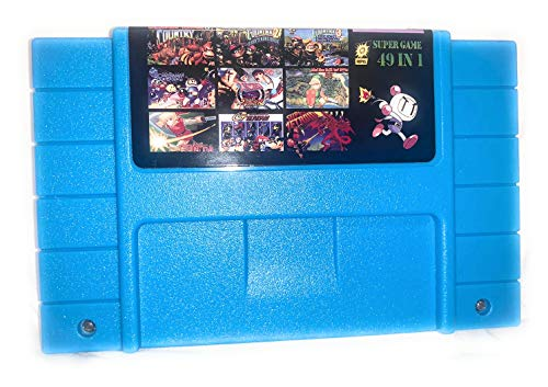 49 in 1 Game Cartridge Multi Cart 16 Bit SNES Game Multicart Card Rare Hot Games Cartridge Battery Save for s nes game console…