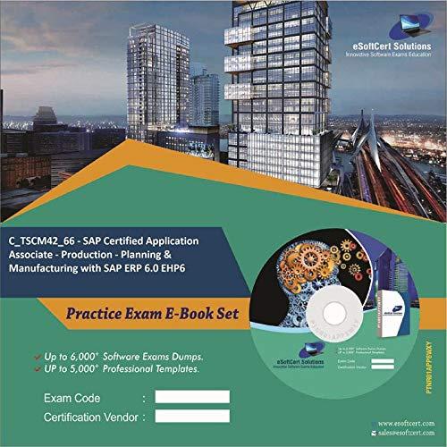 C_TSCM42_66 - SAP Certified Application Associate - Production - Planning & Manufacturing with SAP ERP 6.0 EHP6 Complete Exam Video Learning Solution Set (DVD)
