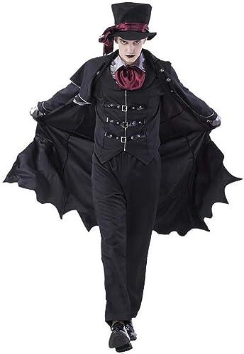 Erwachsene Vampir Kostüme Frauen M er Halloween Party Vampir Paar Cosplay Ausgefallenes Outfit Bekleidung Kleider,damen,L (Farbe   Men, Größe   Medium)