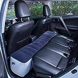 globalqi Auto Luftmatratze, Aufblasbare Rücksitz Lücke Isomatte Luftbett Kissen mit Motorpumpe...
