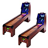 Lancaster 108 Inch Classic Arcade Roll Score, Skee Ball Game Machine Table (2Pk)
