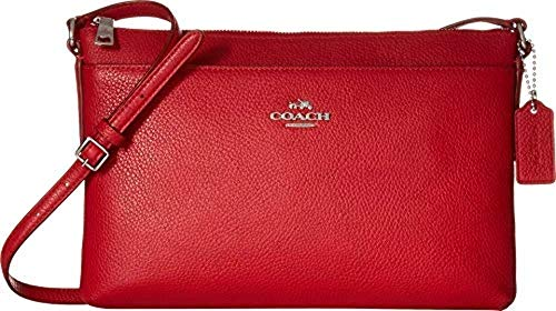 COACH Polished Pebble Journal Crossbody True Red One Size