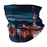 Vienna Skyline Austrian Cities Nightscapes Seamless Multifunctional Headwear Variety Head Scarf Personalized design hood Outdoor sports Headband