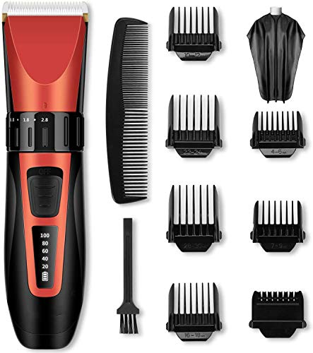 Hair Trimmer Met Display Portable Beroep Hair Clippers Set Cordless Snijden Haar Trimmer Met LCD-Scherm En Oplaadbare Waterproof Ceramic Blades Voor Mannen