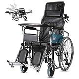 FTFTO Inicio Accesorios Sillas de Ruedas Plegables para Ancianos discapacitados - Silla de Ruedas Ajustable - Usuarios Ancianos discapacitados discapacitados - 200Kg