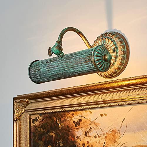 Lindby Wandleuchte, Wandlampe Innen 'Beno' (Retro, Vintage, Antik) in Bronze aus Metall u.a. für Wohnzimmer & Esszimmer (1 flammig, E14) - Bilderleuchte, Wandstrahler, Wandbeleuchtung Schlafzimmer /