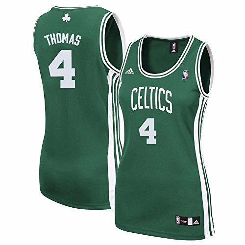 adidas Isaiah Thomas Boston Celtics NBA Women's Green Replica Jersey (M)
