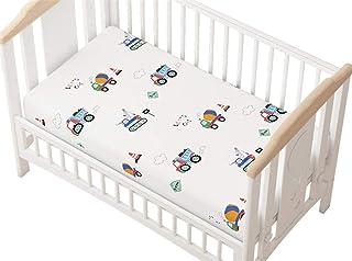 Sawekin Drap housse pour lit bébé - Coton - Motif décoratif - 60 x 120 cm/70 x 140 cm (voiture, 70 x 140 cm)