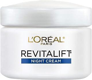 Night Cream by L'Oréal Paris Skin Care, Revitalift Anti-Wrinkle & Firming Night Cream Face Moisturizer with Pro-Retinol, Paraben Free, 2.55 oz.