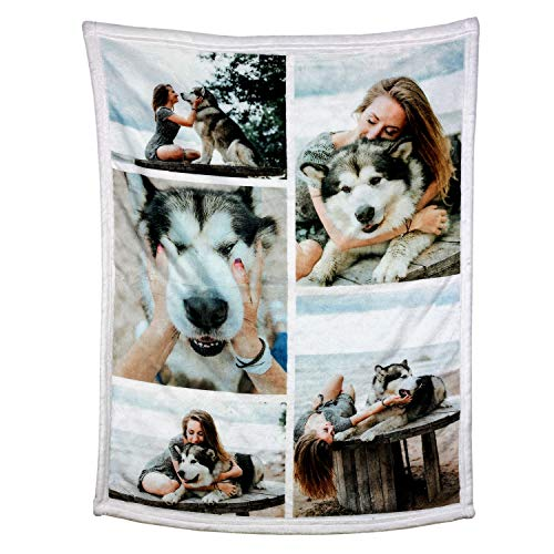 Personalized Throw Blanket. Custom Blanket with 1-9 Photo Collages. Customized Blankets for Family,...