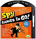 Peaceable Kingdom Secret Spy Write and Wipe Games to Go! Activity Book