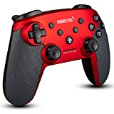 Wireless Bluetooth Controller Compatible with Nintendo Switch Pro (Red)   PC Gamepad Joypad Remote with Gyro Axis (Turbo Buttons) by EVORETRO