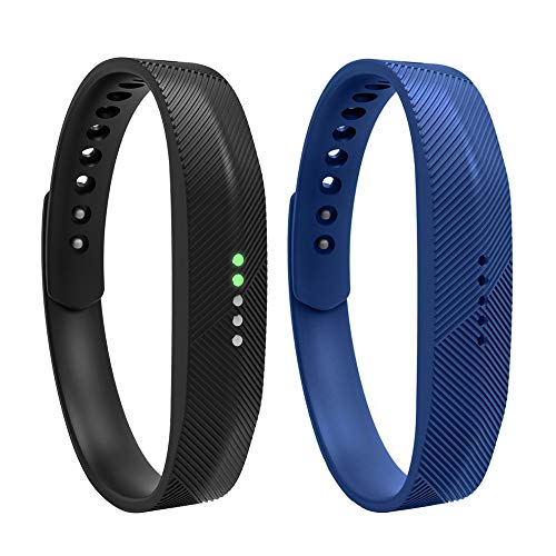 iFeeker For Fitbit Flex 2 Replacement Wristband, Soft Silicone Metal Clasp Watch Buckle Design Wrist Strap Bracelet Sport Watch Band Holder Case Pouch for Fitbit Flex 2(Small/Large