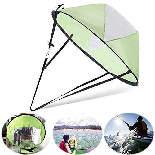 Proglam Kajak Boot Windsegel Kanu Sup Paddel Board Segel mit klarem Fenster Angeln Rudern Boot Aufblasbar Außenbord-Treiben grün