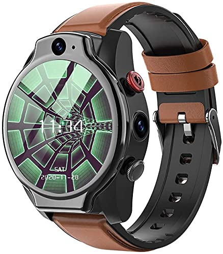 X&Z-XAOY Reloj Inteligente Reloj De Pulsera para Hombres, Reloj del Perseguidor De La Aptitud, 5ATM Resistente Al Agua Android 10, LTE 4G SIM 1100 Mah, Pulsera Inteligente Reloj Inteligente