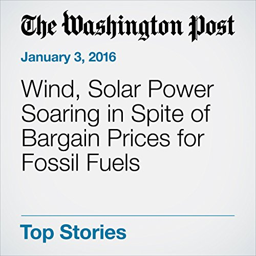 Wind, Solar Power Soaring in Spite of Bargain Prices for Fossil Fuels audiobook cover art