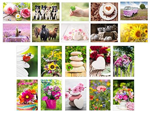 Edition Seidel Set 20 exklusive Premium Geburtstagskarten mit Umschlag (Blanko ohne Text). Glückwunschkarte Grusskarte zum Geburtstag. Geburtstagskarte Happy Birthday