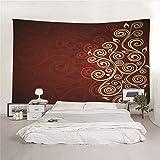 Hao Sai's shop Tapisserie Motif Créatif Mandala Hippy Tapestry Literie Double Taille Couvre-Lit, Drap De Plage pour Pique-Nique, Nappe, Boho, Tenture Murale Décorative 150(H) X150(L) Cm