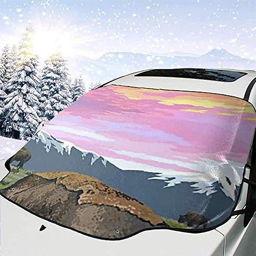 Hiram Cotton Car Sunshade Yellow Stone National Park Auto Windschutzscheibe Sonnenschutz Abdeckung Front Water Sunlight Schneedecke