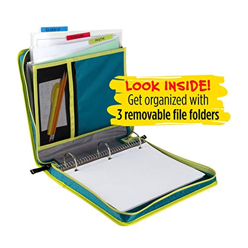 Five Star Zipper Binder, 2 Inch 3 Ring Binder, Removable File Folders, Durable, Color Selected For You, 1 Count (29036) Photo #8