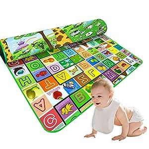 Baby Play Mat Baby Kid Toddler Play Crawl Mat Fruits Alphabets Pattern Reversible Carpet Playmat Foam Blanket Rug Infants