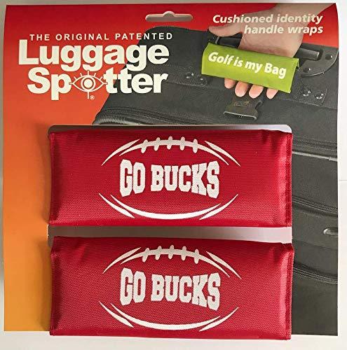 Luggage Spotter Ohio State Buckeyes Fun Football Slogan 'Go Bucks' Imprinted on Handle Wraps with Inside I.D. Pocket - 2pk