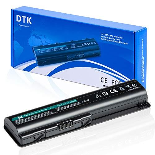 DTK Batteria portatile per HP G60 G61 G70 G71 Pavilion DV4-1000 DV5-1000 DV5-3000 DV6-1000 DV6-2000 Compaq Presario CQ40 CQ60 CQ61 Series EV06 484170-001 HSTNN-LB72 Batterie PC portatili 10.8v 5200mah