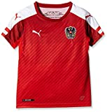 PUMA Kinder Trikot Austria Home Replica Shirt, Red/White, 164