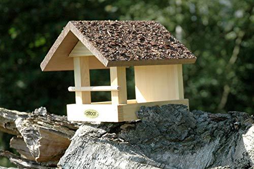 dobar 38120FSCe Vogelhaus klein aus Holz mit Rindendach, 20 x 22.5 x 18 cm - 4