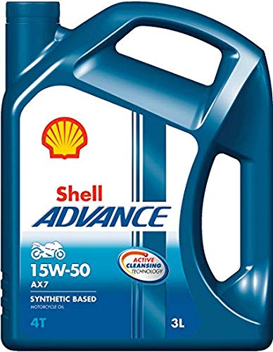 SHELL 15W50 3LTRS Advanced Synthetic Based Oil Recommended for Royal Enfield Bikes