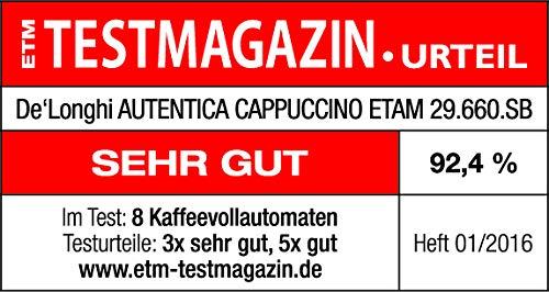 De'Longhi Autentica Cappuccino ETAM 29.660.SB Kaffeevollautomat (1450 Watt, Digitaldisplay, integriertes Milchsystem, Lieblingsgetränke auf Knopfdruck, Herausnehmbare Brühgruppe) silber