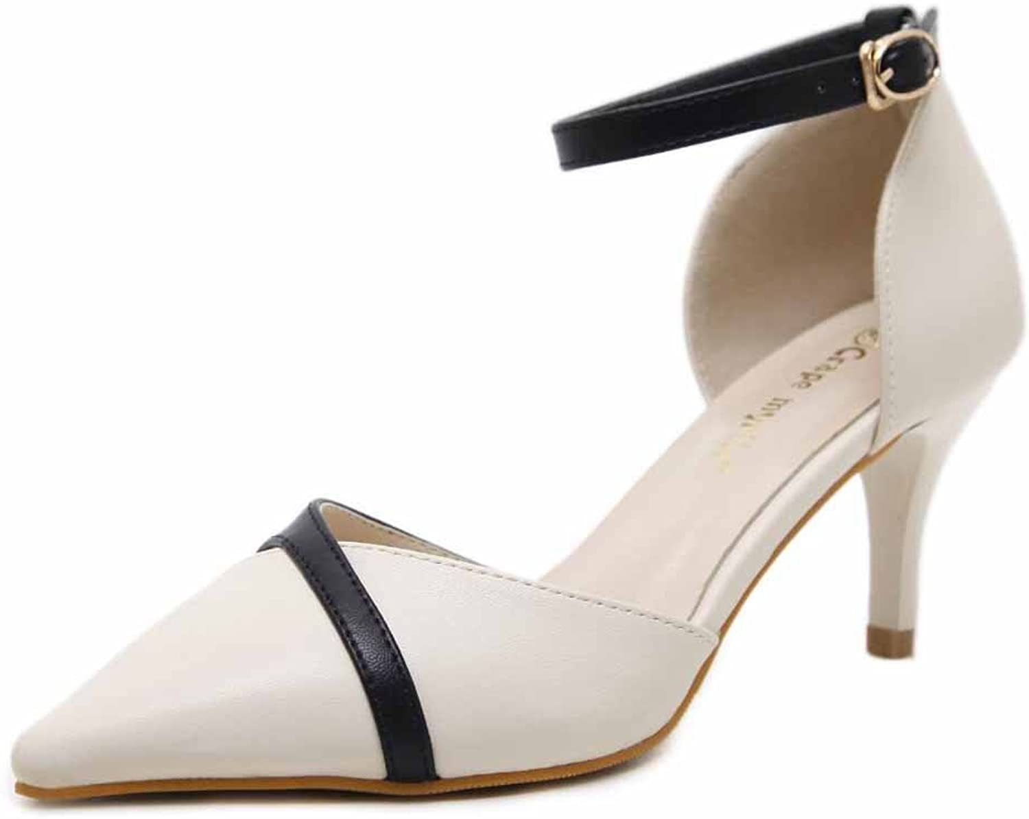 D'orsay Ankle Strap Pump High-heel Hollow Pointed Toe OL Women shoes