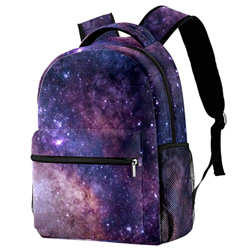 Starry Sky Galaxy Nature Mochila para adolescentes, libros escolares, viajes, mochila informal